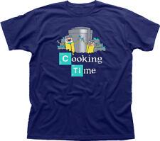 Adventure Cooking Time Finn Jake Breaking Bad Walter navy cotton t-shirt FN09847