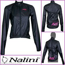 Nalini giacca bici ciclismo antivento antipioggia impermeabile nero rosa donna