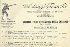BRESCIA_FRANCHI_FUCILI DA CACCIA_LISTINO PUBBLICITARIO