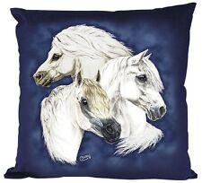 Coussin décoratif avec motif des chevaux ♦ GALLOIS PONEY ♦ 09109 Collection