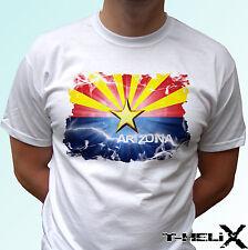 Bandera de Arizona-Blanco T Shirt Top Diseño de Estado de EE. UU. para Hombre Mujer Niños y Bebés Tamaños