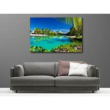 Tableaux toile déco rectangle les Maldives 9186156