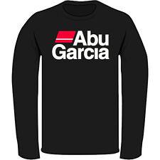 New ABU GARCIA Logo Pro Fishing Men's Black Long Sleeve T-Shirt Size S to 3XL