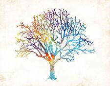 Tree of Life Watercolor Art Print by Dan Morris, option mount print, nature art