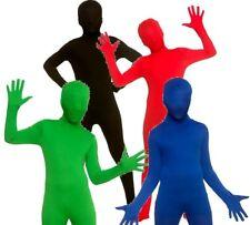 Kids SKIN BODYSUITS Second Suit Lycra Skinz Unisex Jumpsuit Fancy Dress Costume