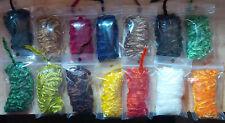 Chenille, Wide, 3 Meter bag, Various Colors