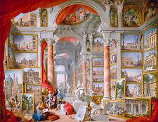 Giovanni Paolo Panini – Modern Rome, 1757, Art Poster, Museum Canvas Print