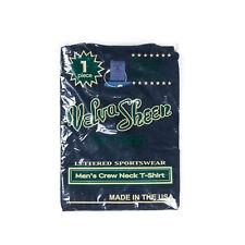 NEW Velva Sheen 1 Pac Indigo Dyed Crew Neck Pocket Tee Made in USA Vintage