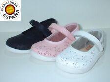 Zapato mercedes piel blanco, Azul y Rosa tallas 19 a 27
