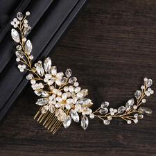 Women's Pearl Crystal Hair Comb Hairpin Bridal Wedding Dress Hair Accessories