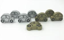 Holz Auto-form Lose Perlen Gold/Silber Holzperlen Halskette Zubehör 25mm