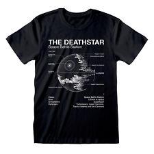 Star Wars Death Star T Shirt Blueprint Schematic Darth Vader Official S M LXLXXL