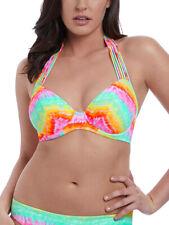 Freya Zamba Bikini Top Halterneck Triangle Full Cup 6661 Padded Non Wired Multi