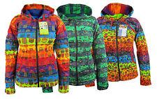 Multicolor Estampado de rayas Informal Cálido Para Invierno psycedelic Estriado