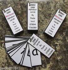 Eyfs / speciali esigenze alfabeto CARDS montato su Anello disponibile anche in MONTESSORI