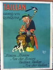 MICH - ORIGINAL VINTAGE POSTER - Taillan  Grand Vin au Quinquina - CIRCA 1920