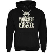 Always Be Yourself Pirate Black Adult Hoodie