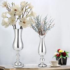 38/52CM Silver Metal Vase Urn Wedding Centrepiece Flower Vase Party Table Decor
