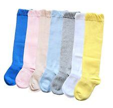 unisex babies stay on cotton thigh high long socks seamless toe sensitive feet