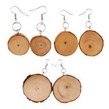 Fashion large Round Wood Wooden Earrings Hook Drop Dangle Ear Rings Jewelry