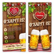 Einladungskarten Oktoberfest Geburtstag Bayern Einladungen - O'zapft is! in Rot