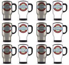 14oz 100% Original Occupation Funny Occupation Aluminium Travel Mug - Blue