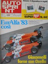 Autosprint 43 1982 Speciale Rosberg. EuroAlfa: Giacomelli forse con Osella sc.5