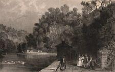 CUMBRIA. Gilsland Spa, Cumberland. ALLOM 1839 old antique print picture