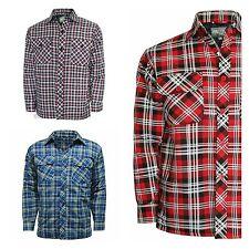 Hombre Lumber Jack exterior GUATEADO Acolchado Camisa De Cuadros Chaqueta Talla