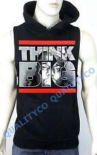 Men's Think Big Notorious Biggie Black Vest Hoodie Sweatshirt dope Rapper nwa