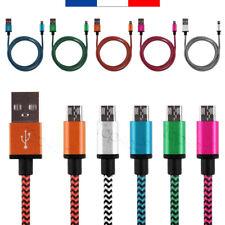 CABLE CHARGEUR USB METAL RENFORCÉ POUR SAMSUNG GALAXY J7 J2 J5 S7 S6 S4 C1 DATA