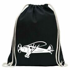 Propeller Plane Airplane Gym Bag Fun Backpack Sports Pouch Gymsack Ziehgurt