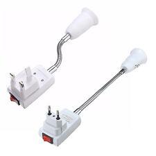 AM_ EG_ E27 LED LIGHT BULB LAMP HOLDER EXTENSION ADAPTER CONVERTER SWITCH SOCKET