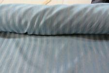 Lane  Striped Faux Silk Curtain/Craft Fabric Blue