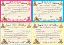 10 personalizzata Baby Shower carte da gioco e inviti-più opzioni-Bear