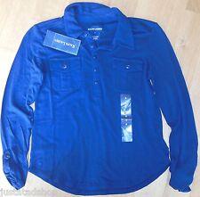 Ralph Lauren Ragazza Top Camicia Blusa Taglia 6 Y Nuovo Con Etichetta Designer Blu Navy