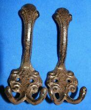 "Victorian Coat Hooks Vintage Look Cast Iron 5 1/2"", Entryway Hallway Decor, H-61"