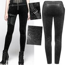 Pantalon steampunk jacquard harnais gothique punk baroque stylé PunkRave Noir