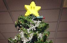 Mario Pixel Star Christmas Tree Topper