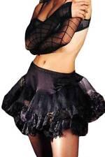 Tüll Mini-Rock Petticoat mit Spitze in diversen Farben