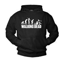 Walking DEAD Hoodie Sweater Pullover Con Cappuccio Nero Zombie cool regalo fan