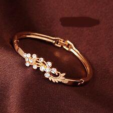 Armband Gold pl. Armreif Herz  Liebe Schmuck Bracelet  Geschenk Rosegold NEU