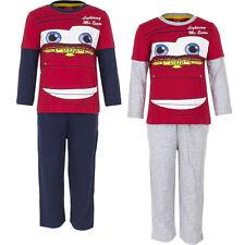 NUEVO Juego Pijama Ropa De Dormir Niños Cars Rojo Azul Gris 98 104 116 128 #19
