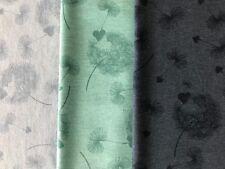 Jersey Stoff Pusteblume und Sternchen Hell Blau, Mint oder Dunkel Blau 0,5 m