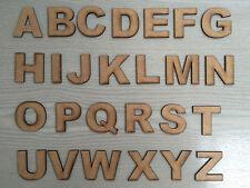 Artesanía de madera letras del alfabeto y números formas de corte láser de madera MDF 3mm de espesor