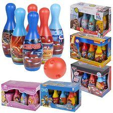 Bambini Disney Bowling Set Skittles PIN giocattolo All'Aperto Indoor Palla gioco regalo divertente natalizio
