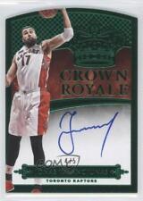 2014-15 Panini Preferred Crown Royale Green #130 Jonas Valanciunas Auto Card