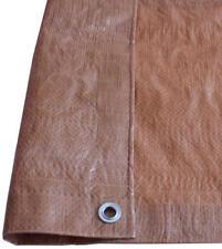 Brown Tan 3.5mil Standard-Duty Poly Tarp UV Water Mildew Tear Resist CHOOSE SIZE