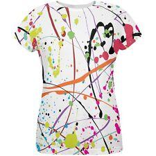 Splatter Paint White All Over Womens T-Shirt