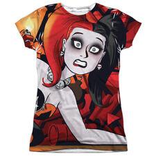 Batman Harley Quinn Cooke Cover All Over Print Sublimation Junior T Shirt
